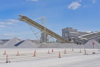 Crushing plant and limestone mine