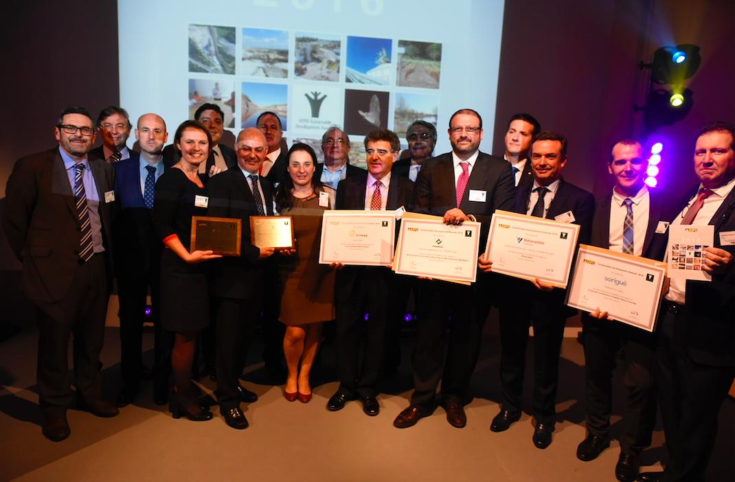 Las empresas de áridos españolas triunfan en los premios Europeos de Desarrollo Sostenible de la UEPG