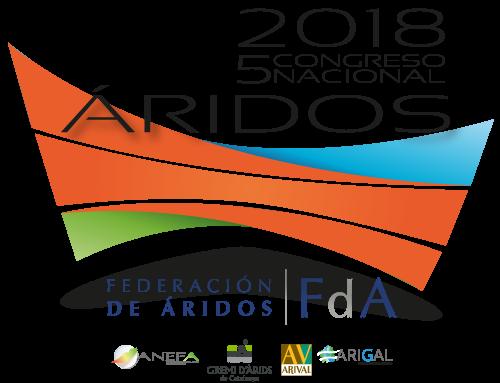 La Federación de Áridos convoca el V Congreso Nacional de Áridos para finales de septiembre y principios de octubre de 2018
