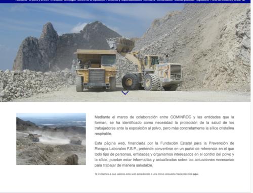 SILICEYSALUD.ES web de referencia para mejorar las condiciones de trabajo sobre la sílice cristalina respirable (SCR)