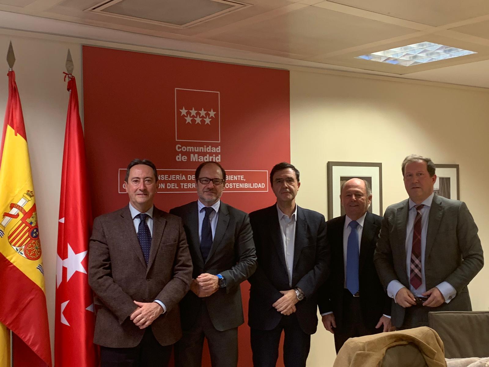 La AFA de Madrid se reúne con el viceconsejero de medio ambiente y tres directores generales