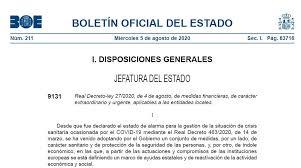 Real Decreto-ley 27/2020 de medidas financieras aplicables a entidades locales