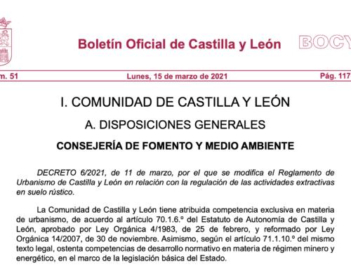 Publicada la modificación del Reglamento de Urbanismo de Castilla y León